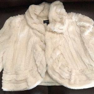 Jackets & Blazers - Cream faux fur coat
